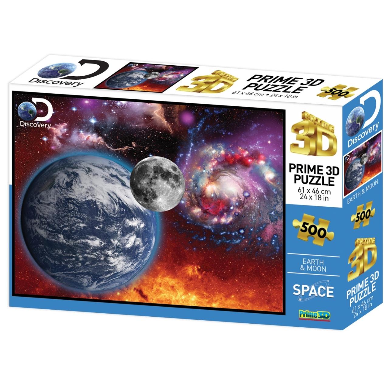 Купить Пазл Super 3D Космический пейзаж , 500 деталей, Prime 3D,