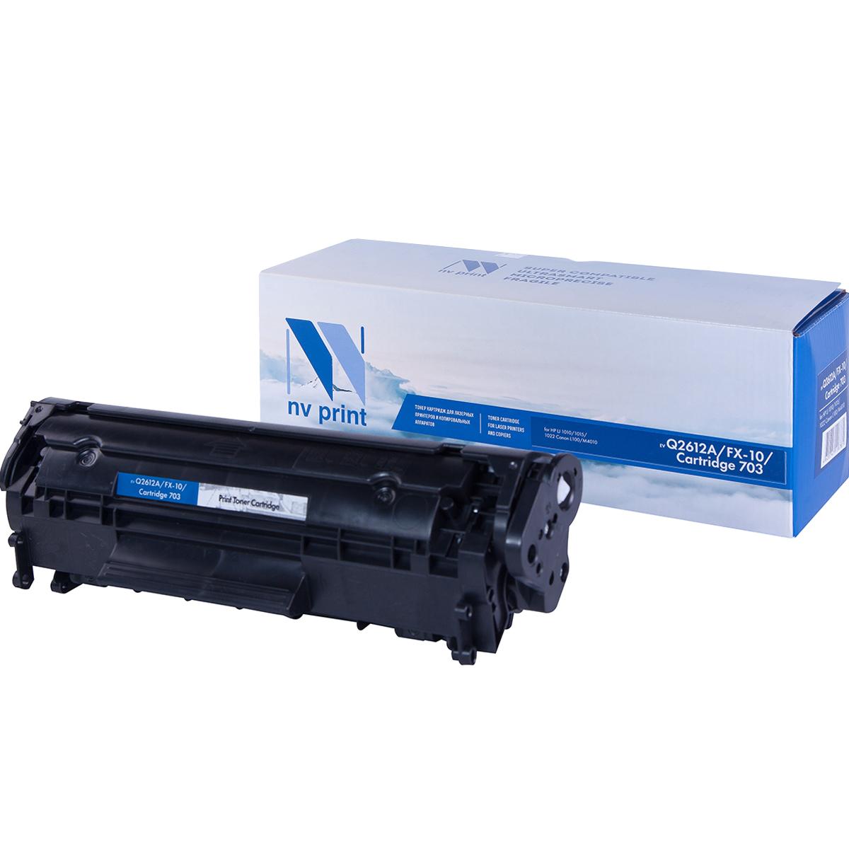 Картридж для лазерного принтера NV Print Q2612A/FX10/CAN703 черный