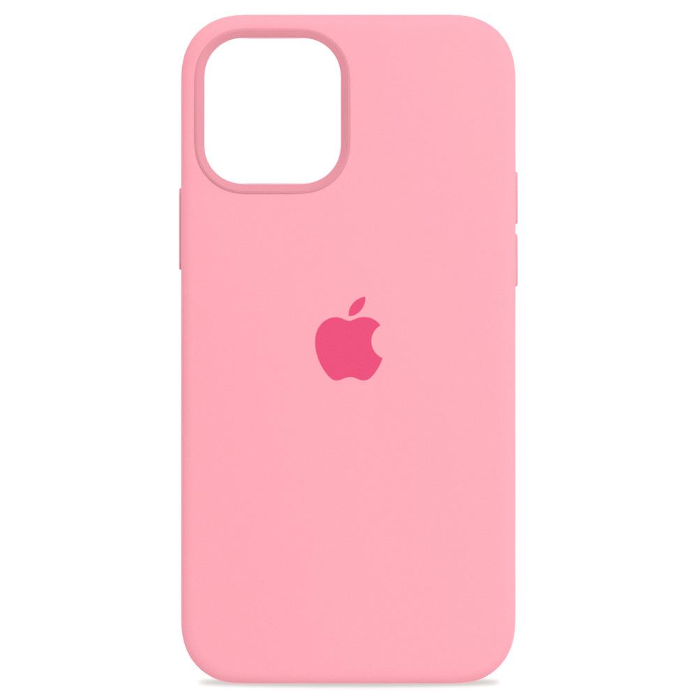 Силиконовый чехол iPhone 12 Mini, Светло-розовый,Case-House