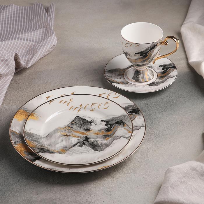 Набор столовый «Марбл», 4 предмета: кружка