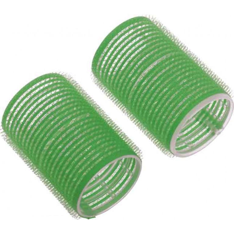 Купить Набор бигуди-липучек Dewal Beauty диаметр 48 мм, длина 63 мм (10 штук) зеленые