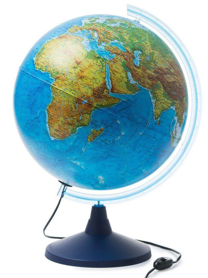 Глобус Globen физико-политический Ке014000246, с подсветкой d=400