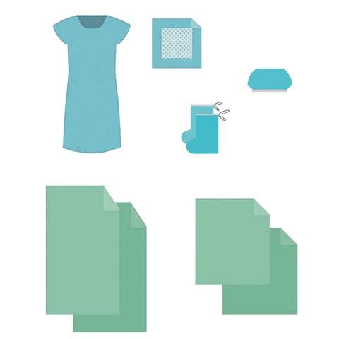 Купить Комплект белья одноразовый акушерский КБР-12 ГЕКСА стерильный 7 предметов, Гекса