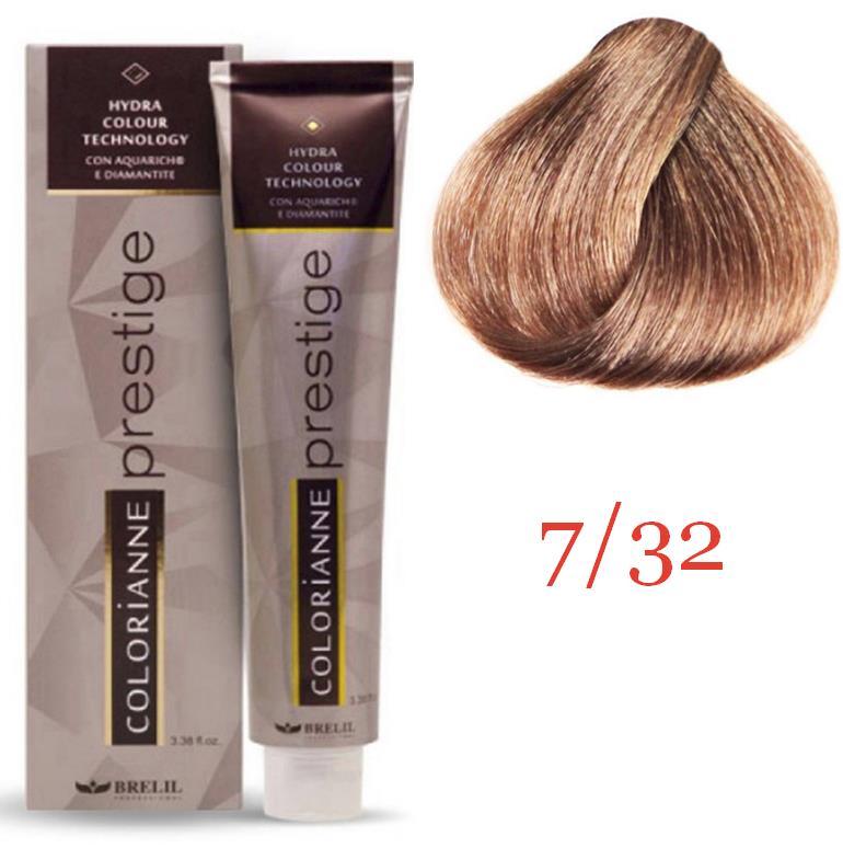 Купить Краска для волос Colorianne Prestige 7/32 Бежевый блонд, 100 мл, Brelil professional
