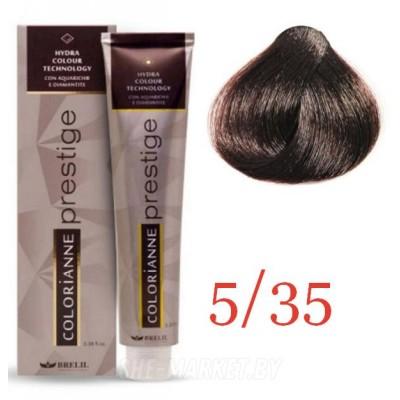 Купить Краска для волос Colorianne Prestige 5/35 Светлый коричневый шатен, 100 мл, Brelil professional