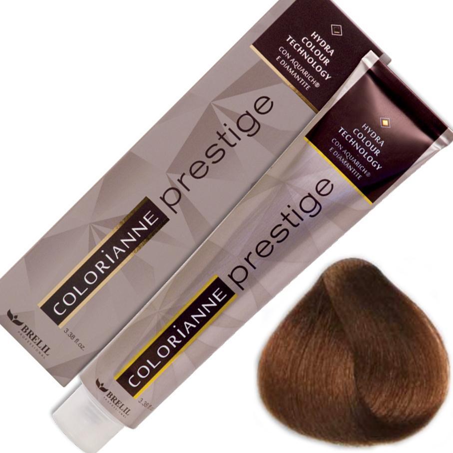 Купить Краска для волос Colorianne Prestige 5/30 Светлый золотистый шатен, 100 мл, Brelil professional