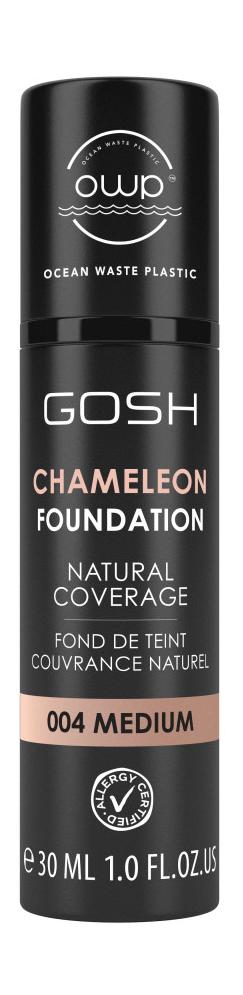 Купить Тональная основа для лица Gosh Chameleon Foundation 6 Medium Dark, 30 мл, GOSH COPENHAGEN