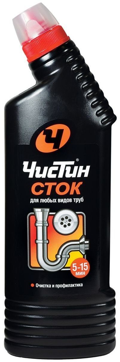 Средство для прочистки труб Чистин Сток гель 750 г.