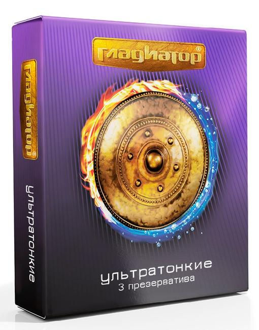 Купить Презервативы ГЛАДИАТОР Ультратонкие 3 шт., Gladiator