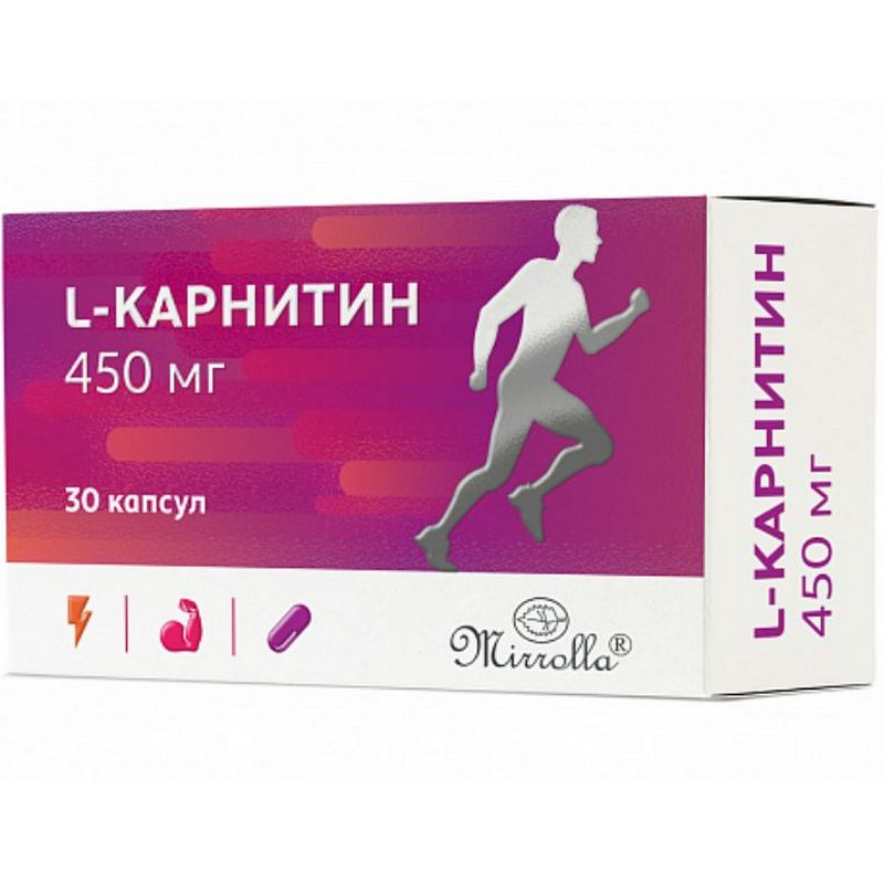 Купить L-Карнитин Mirrolla 450 мг 30 капсул