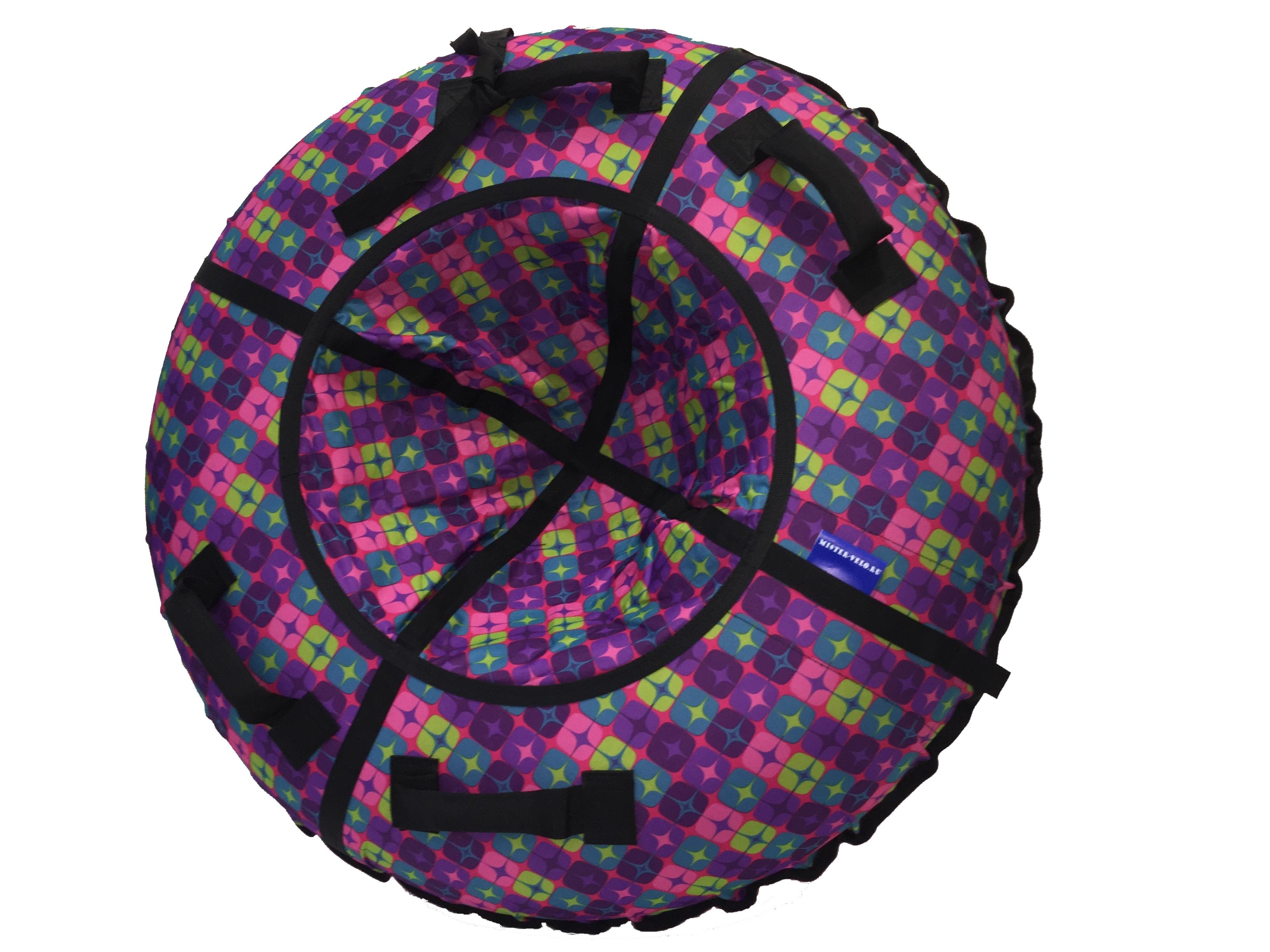 Тюбинг Мистер Вело Standart Разноцветные квадраты со звездами 105 см