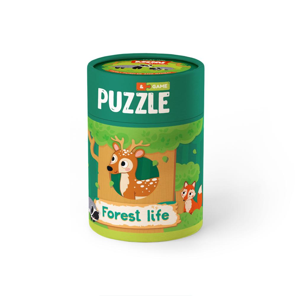 Купить Игровой набор MON Puzzle Зоология для Малышей. Лесная жизнь, пазлы, карт. с заданиями,