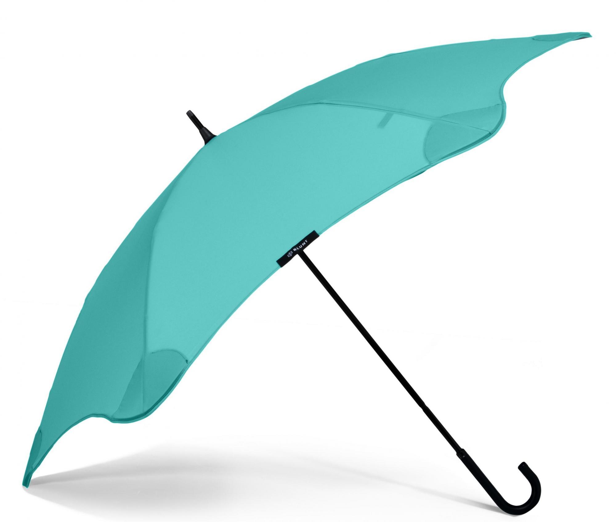 Зонт-трость женский полуавтоматический Blunt Lite бирюзовый
