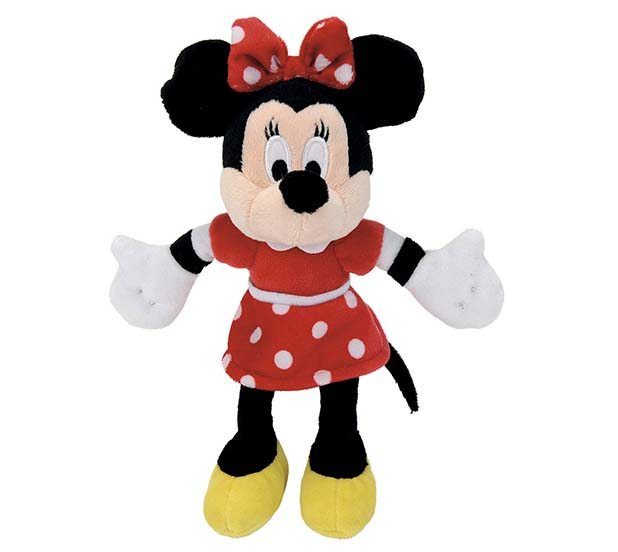 Nicotoy Мягкая игрушка - Минни Маус в красном платье 25 см.
