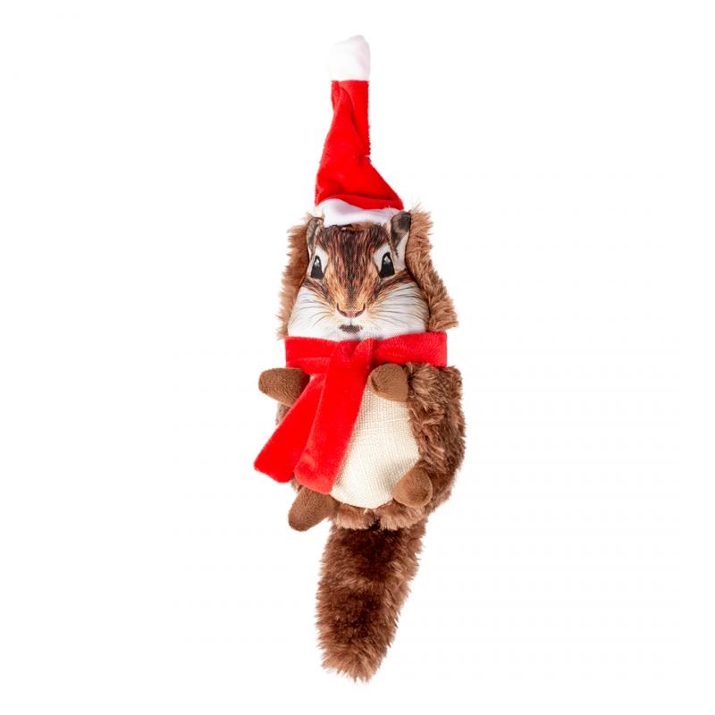 Мягкая игрушка для собак Duvo+ Новогодний бурундук,