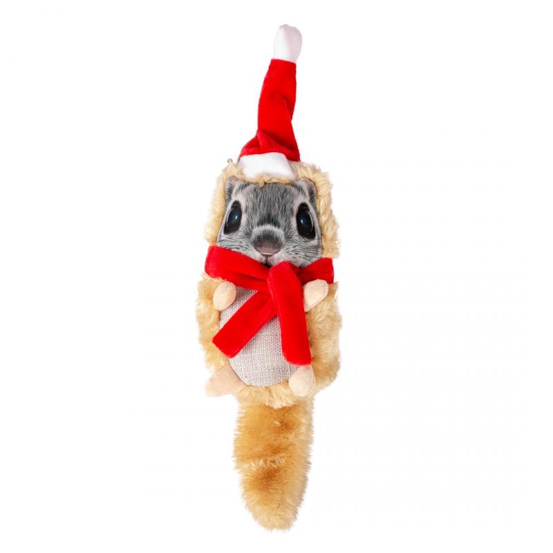 Мягкая игрушка для собак Duvo+ Новогодняя белка,