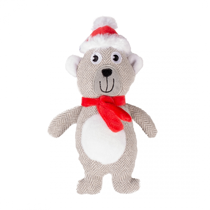 Мягкая игрушка для собак Duvo+ Новогодний Мишка,