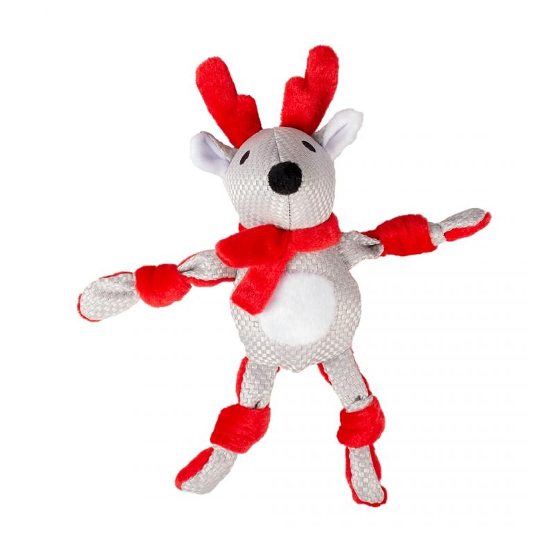 Мягкая игрушка для собак Duvo+ Новогодний Олень,