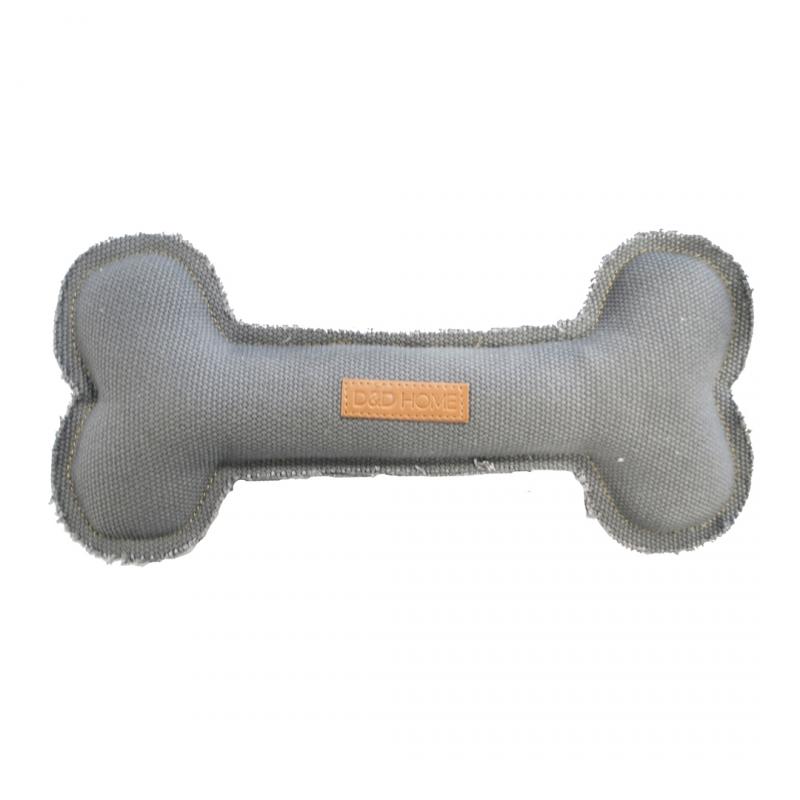 Игрушка пищалка для собак Ebi Кость серая,