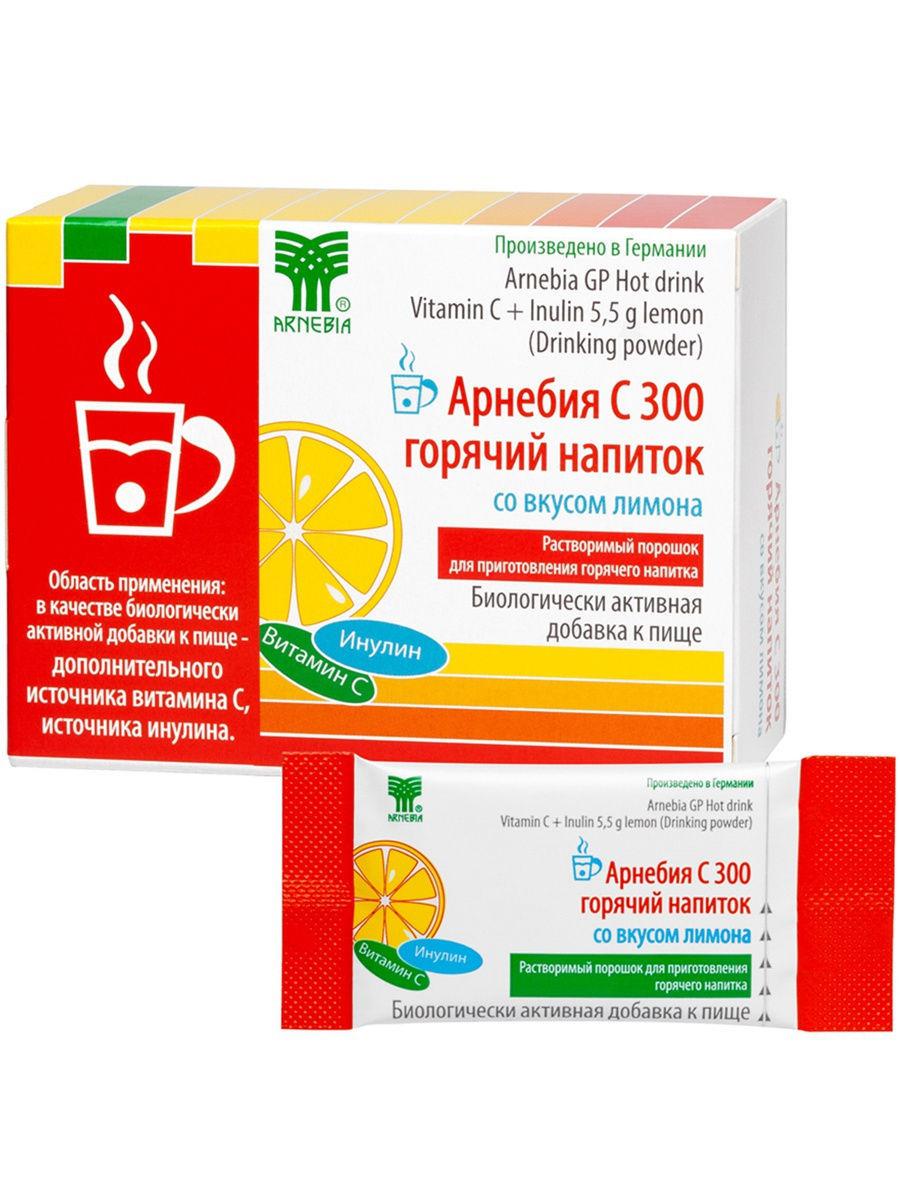 Купить Со вкусом лимона, С 300 Арнебия горячий напиток со вкусом лимона пакеты 10 шт.