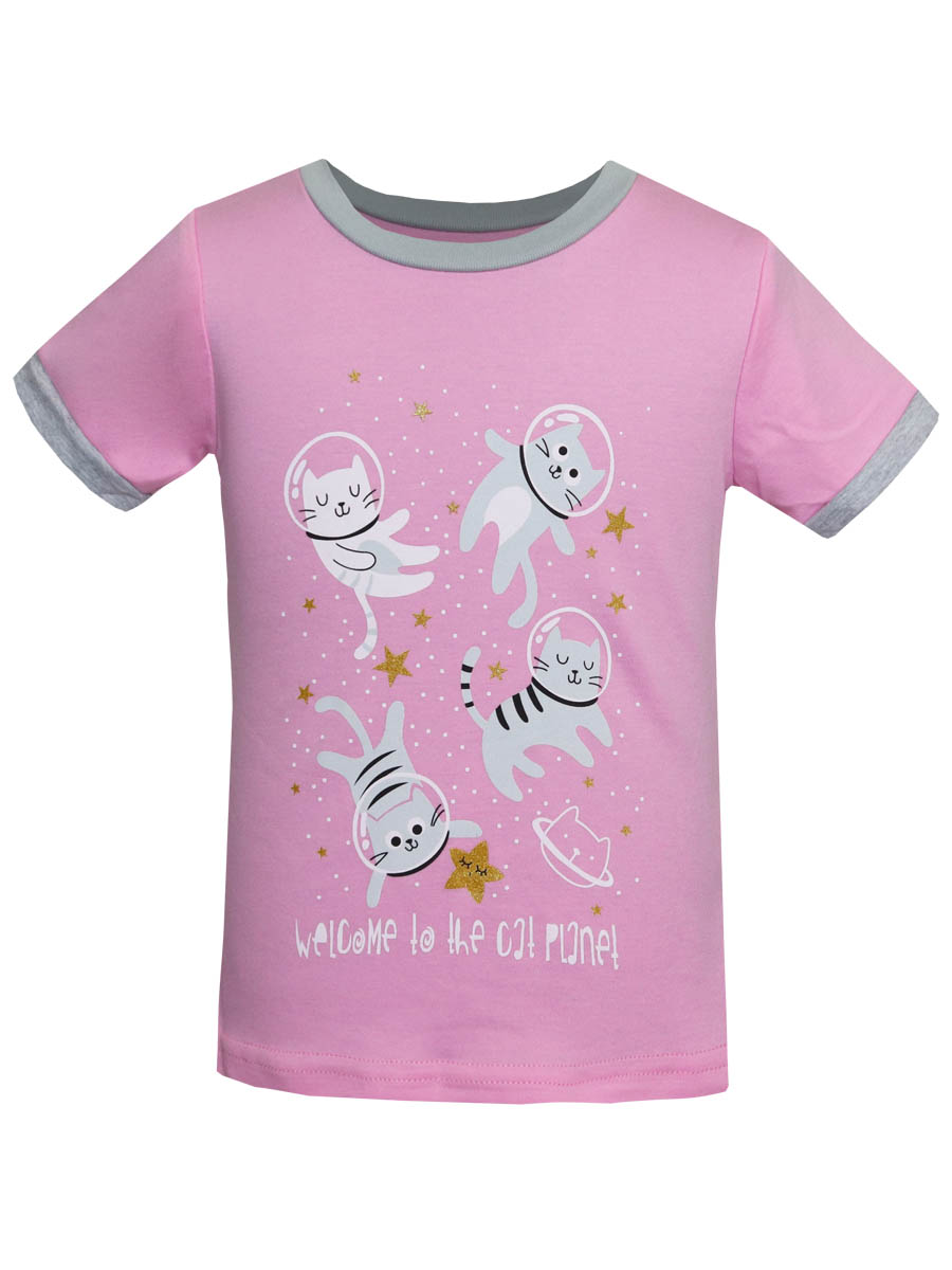 Футболка пижама для девочки Котмаркот рост 128 см  16690