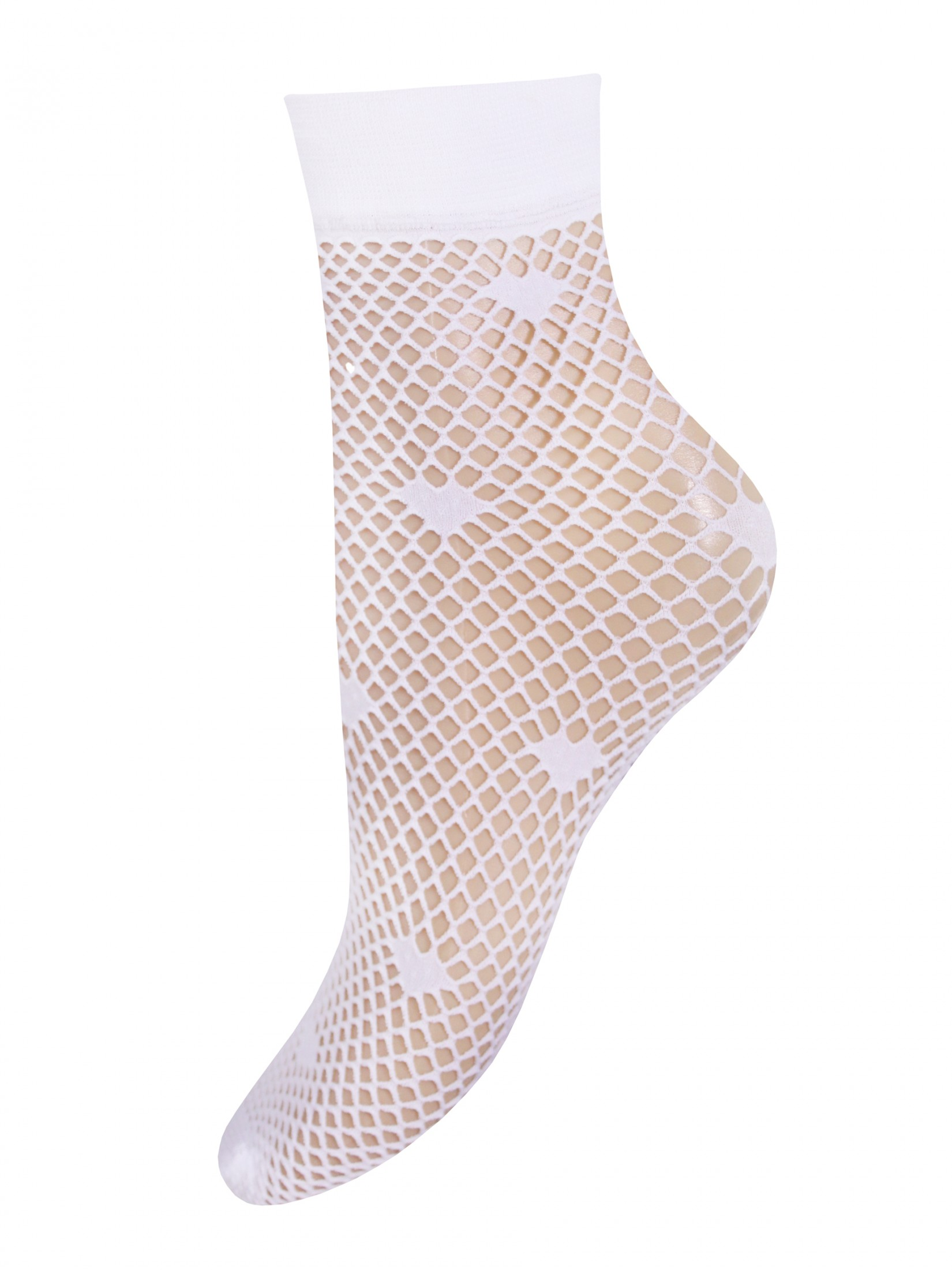 Капроновые носки женские Mademoiselle Dandelion (c.) белые UNICA