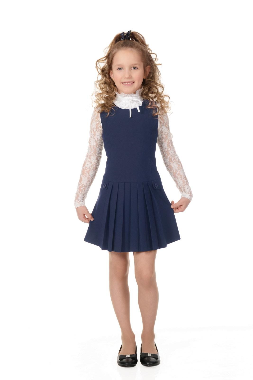Купить Сарафан для девочек SkyLake ШФ-866 Верона цв. синий, р. 28/128, Сарафаны для девочек