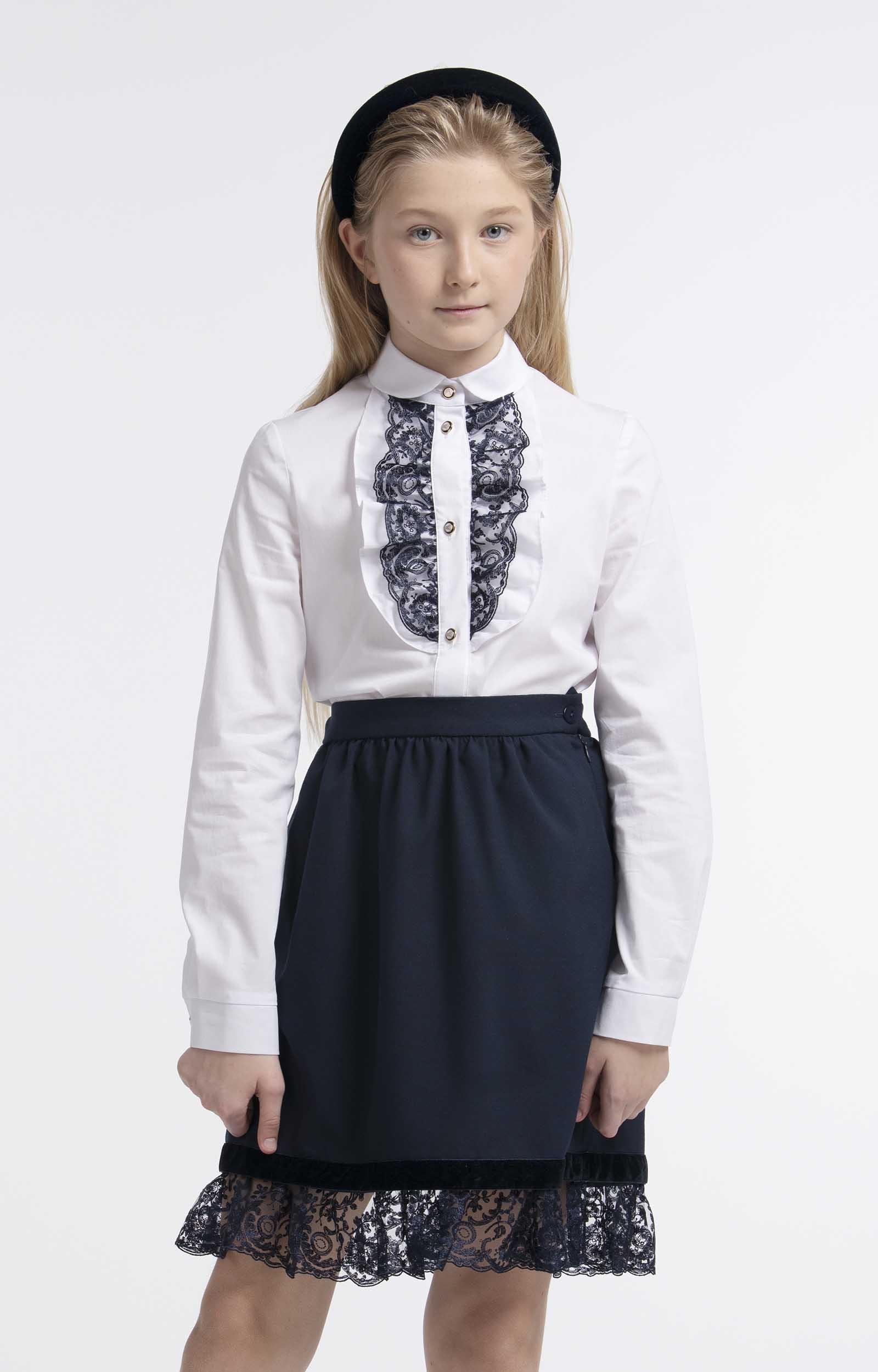 Блузка для девочек SMENA цв.белый 10555 р.122/64