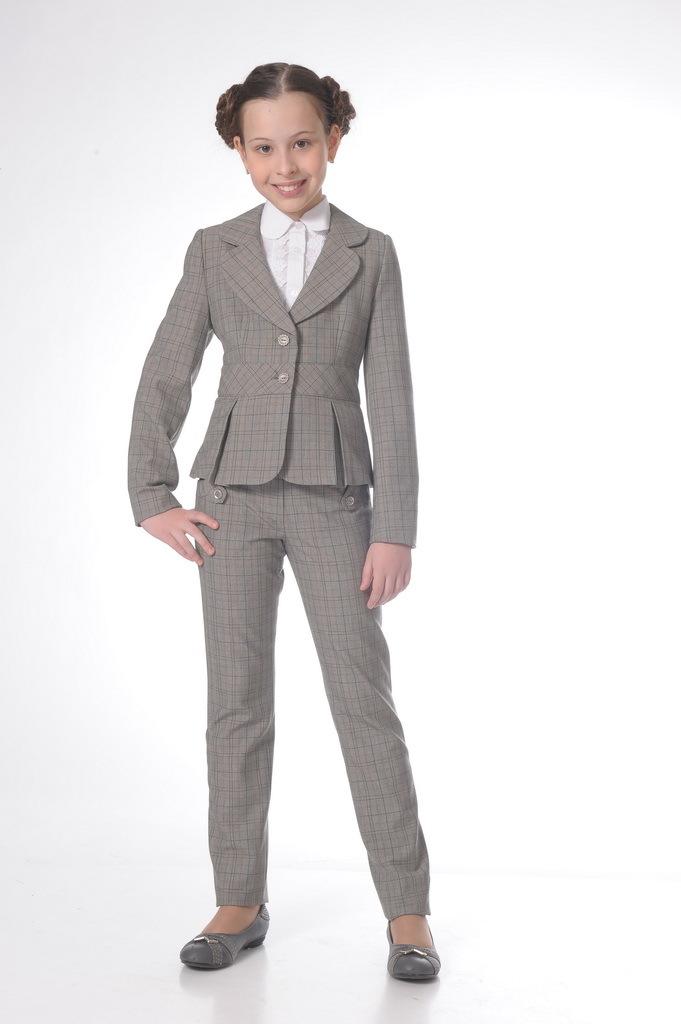 Купить Школьные брюки SkyLake ШФ-770 Штутграт цв. серый, р. 36/146, Брюки для девочек