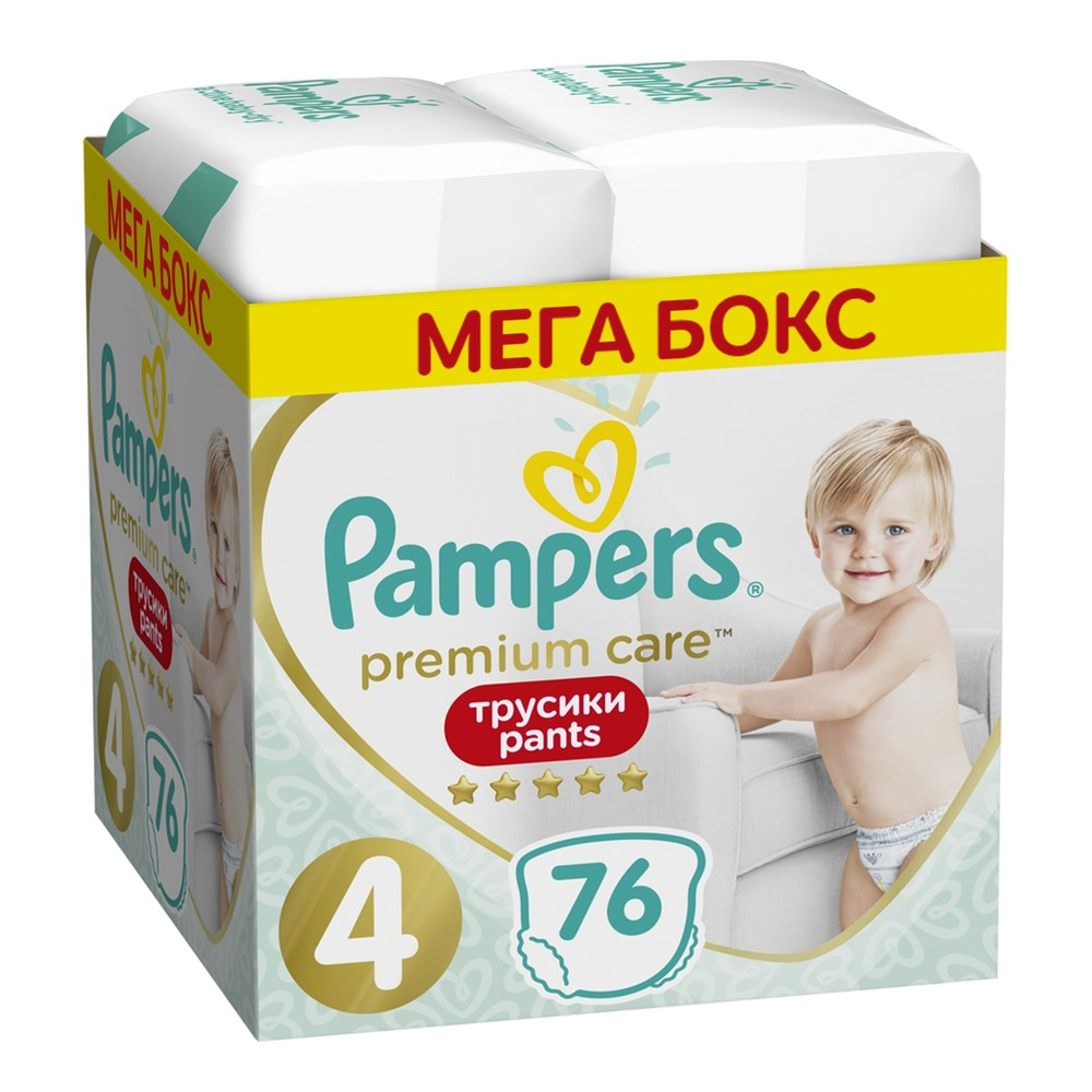 Трусики Pampers Premium Care Размер 4, 9-15 кг, 76 шт