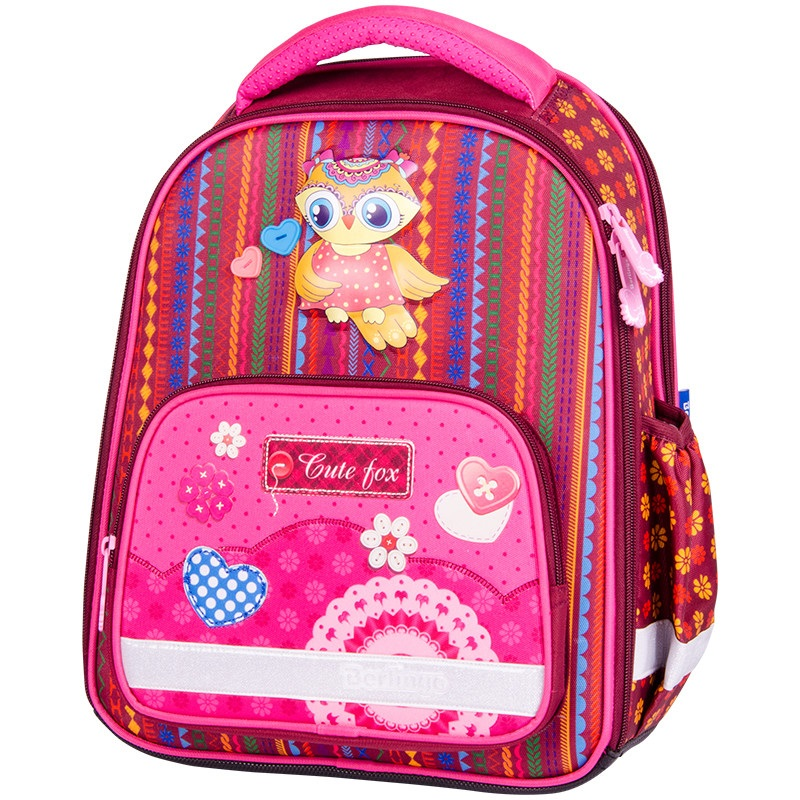 Купить RU045902, Ранец детский Berlingo с наполнением Optimal. Cute owl, 37x28x16 см,