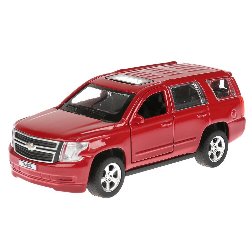 Машина металлическая инерционная Технопарк Chevrolet Tahoe красная, 12 см