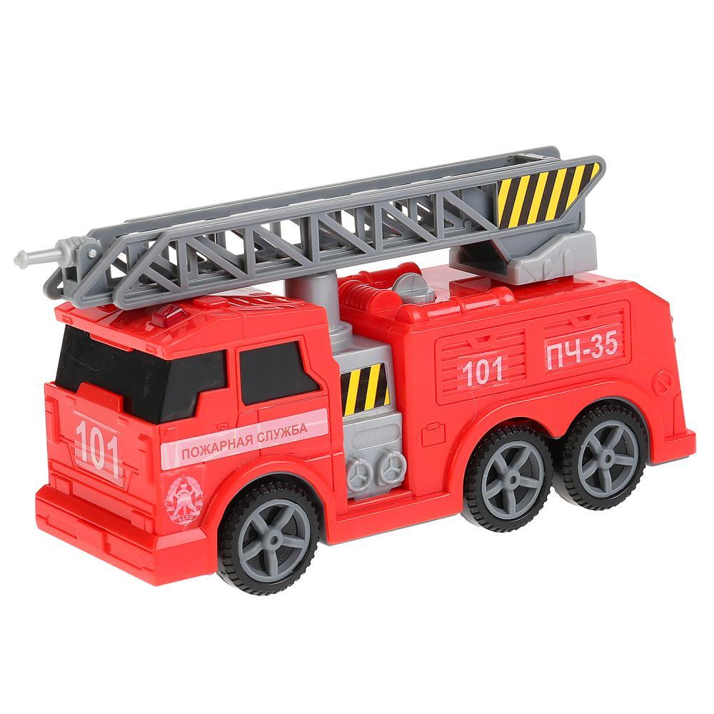 Купить Технопарк Пожарная машина, 17 см, свет, звук, подвижные элементы,