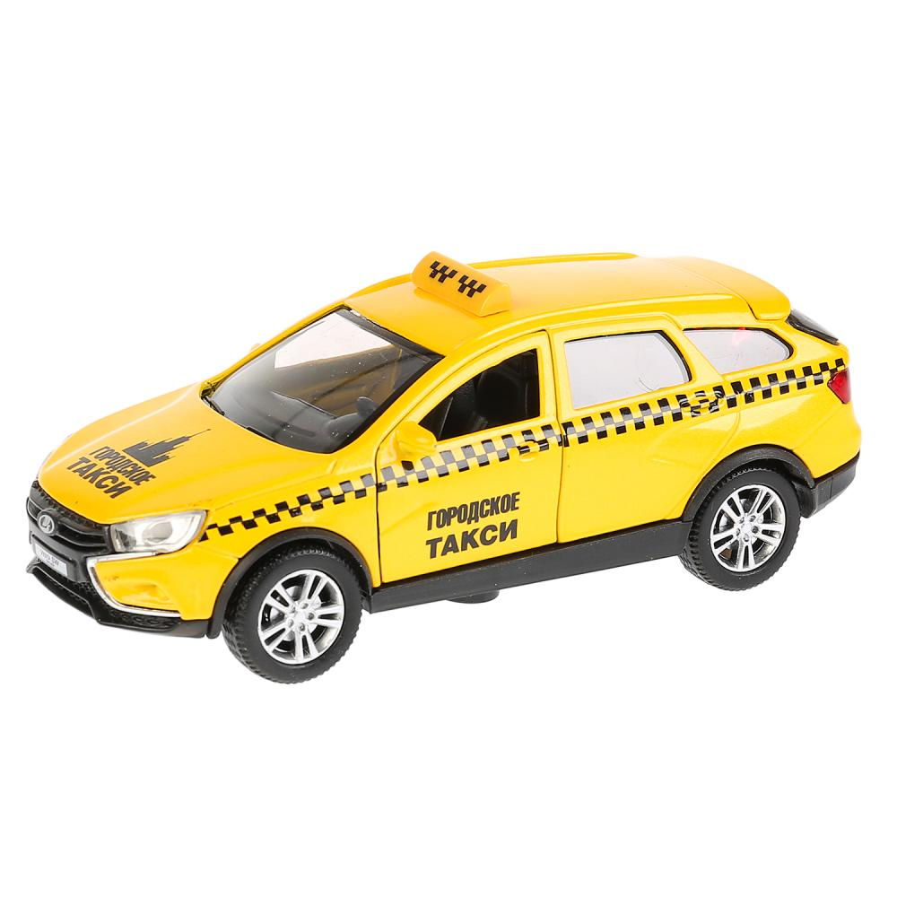 Машина металлическая инерционная Технопарк Lada Vesta Sw Cross Такси, 12 см