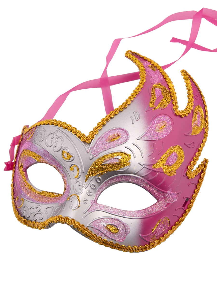 Купить 75232, Карнавальная маска Феникс-Презент Жар-птица розовая, 16х20х7 см,