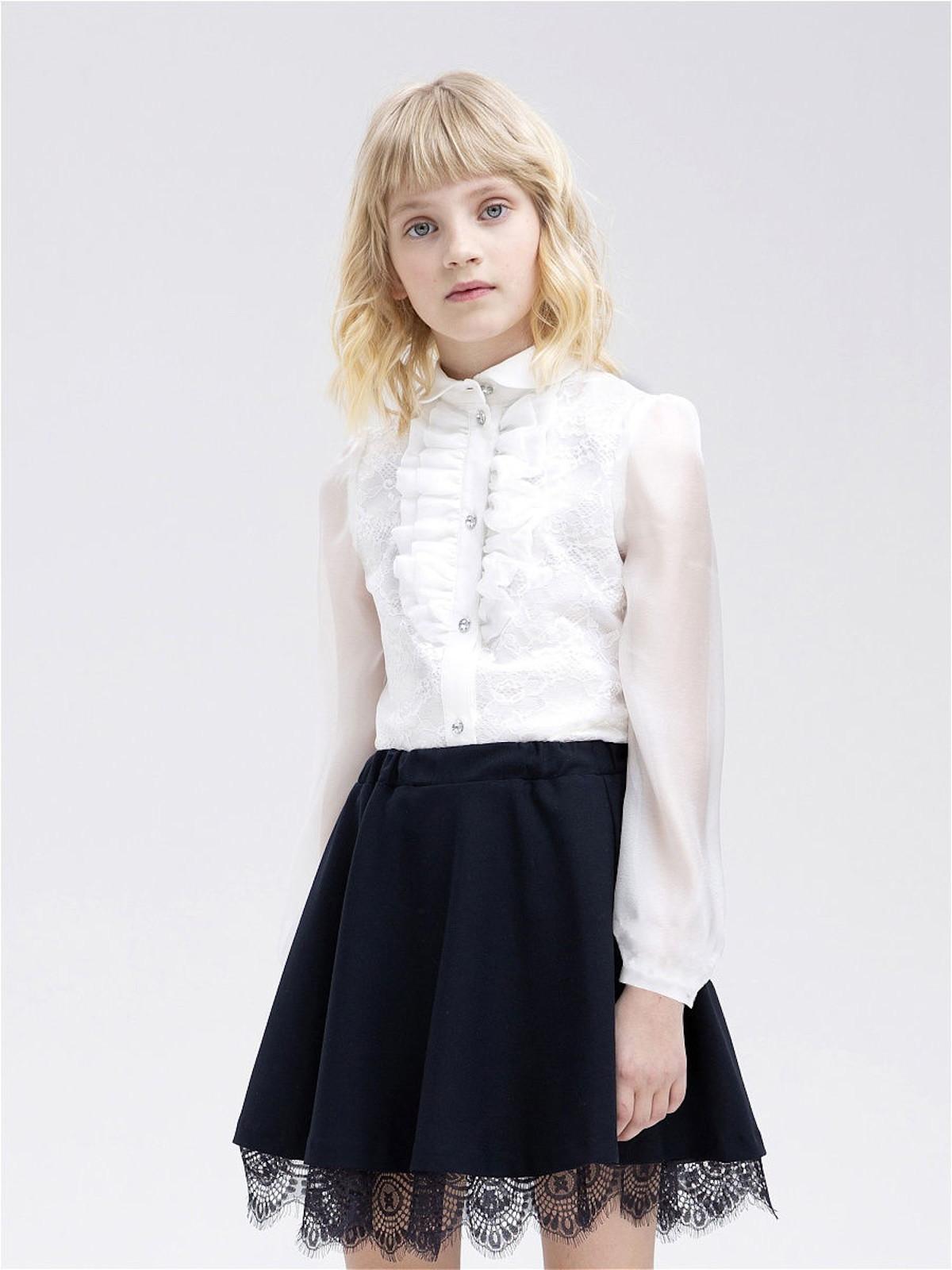 Купить Блузка для девочек СМЕНА цв.белый 10835 р.152/76, Смена, Блузки для девочек