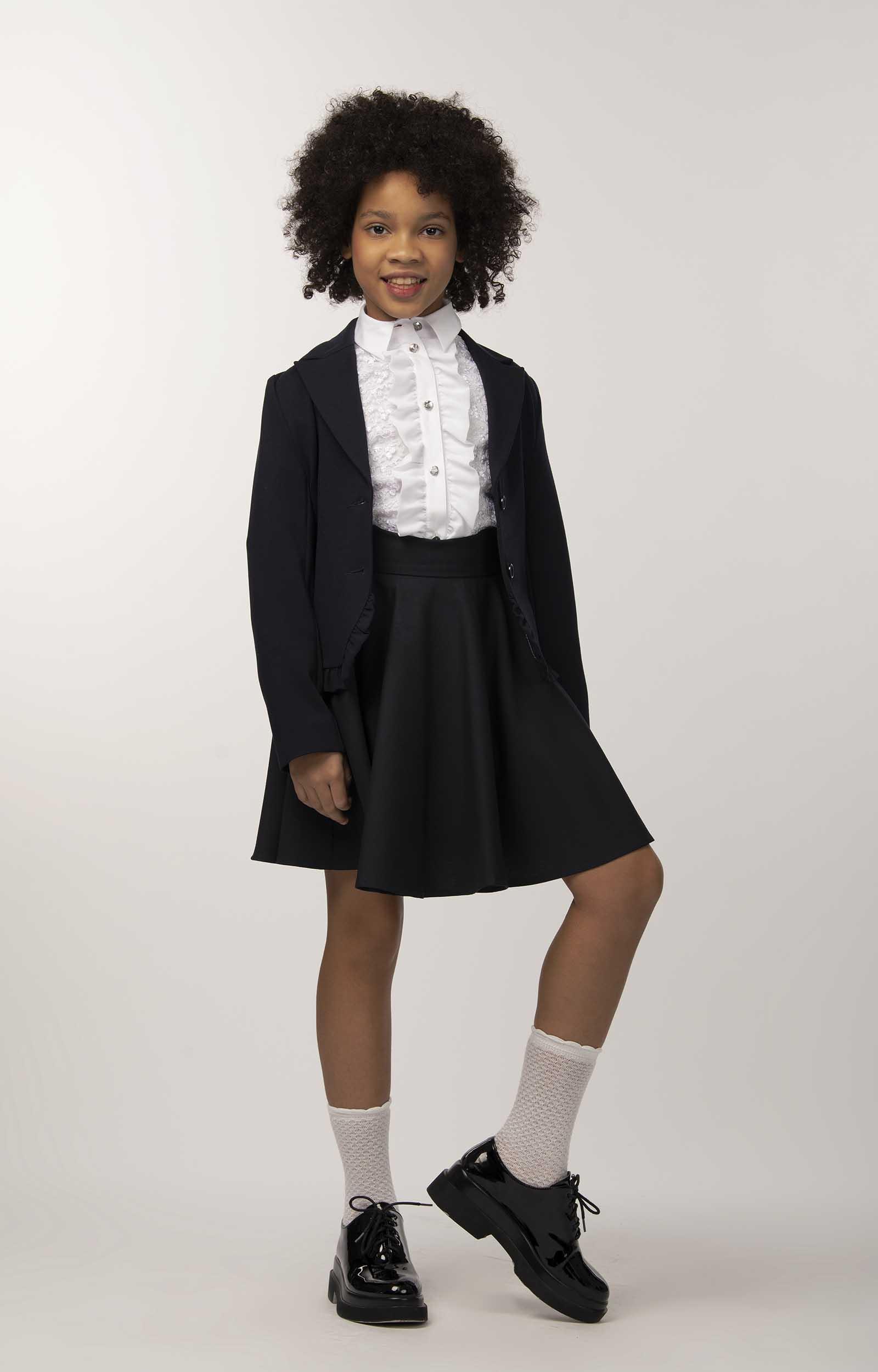 Купить Блузка для девочек СМЕНА белый 10835 р.146/72, Смена, Блузки для девочек
