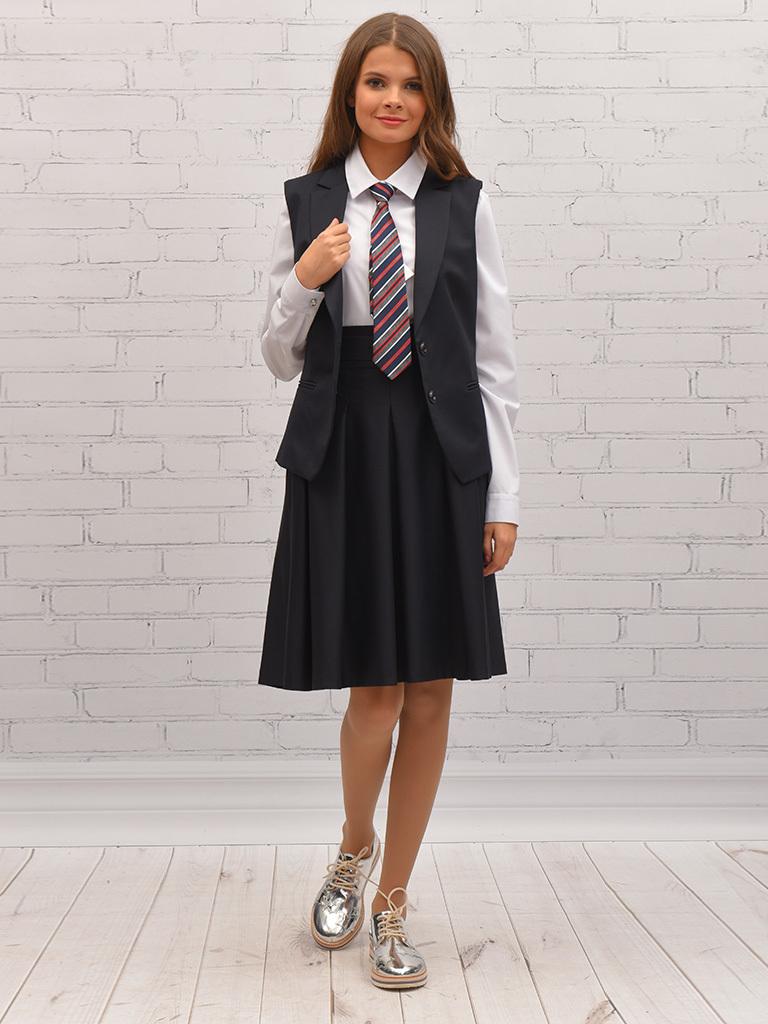 Купить Школьная юбка для девочек SkyLake ШФ-1097 Сапфир цв. синий, р. 44/164, Юбки для девочек