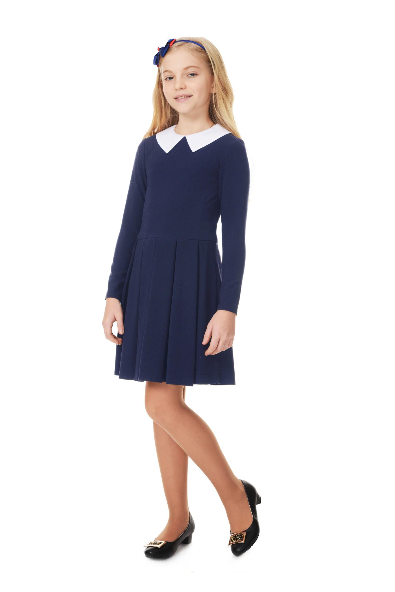 Купить Школьное платье для девочек SkyLake ШФ-1053 Ностальжи цв. синий, р. 36/146, Платья для девочек
