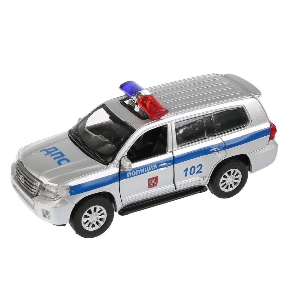 Машинка Технопарк - Toyota Land Cruiser – Полиция, 12,5 см, открываются двери
