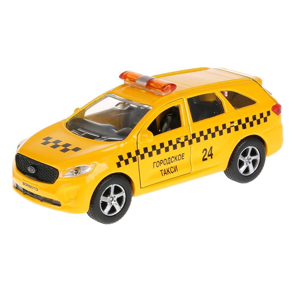 Металлическая инерционная модель Технопарк Kia Sorento Prime Такси, 12 см