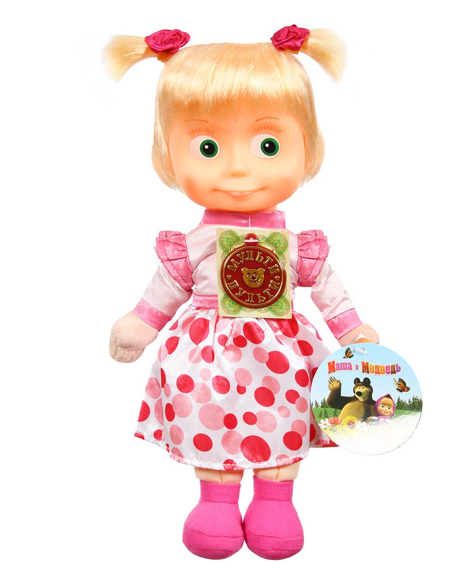 Купить Мягкая игрушка Мульти-Пульти Маша в нарядном платье, 29 см., музыкальный чип,