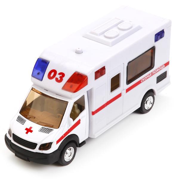 Микроавтобус Машинка Технопарк Скорая помощь - 17 см - звуковые эффекты