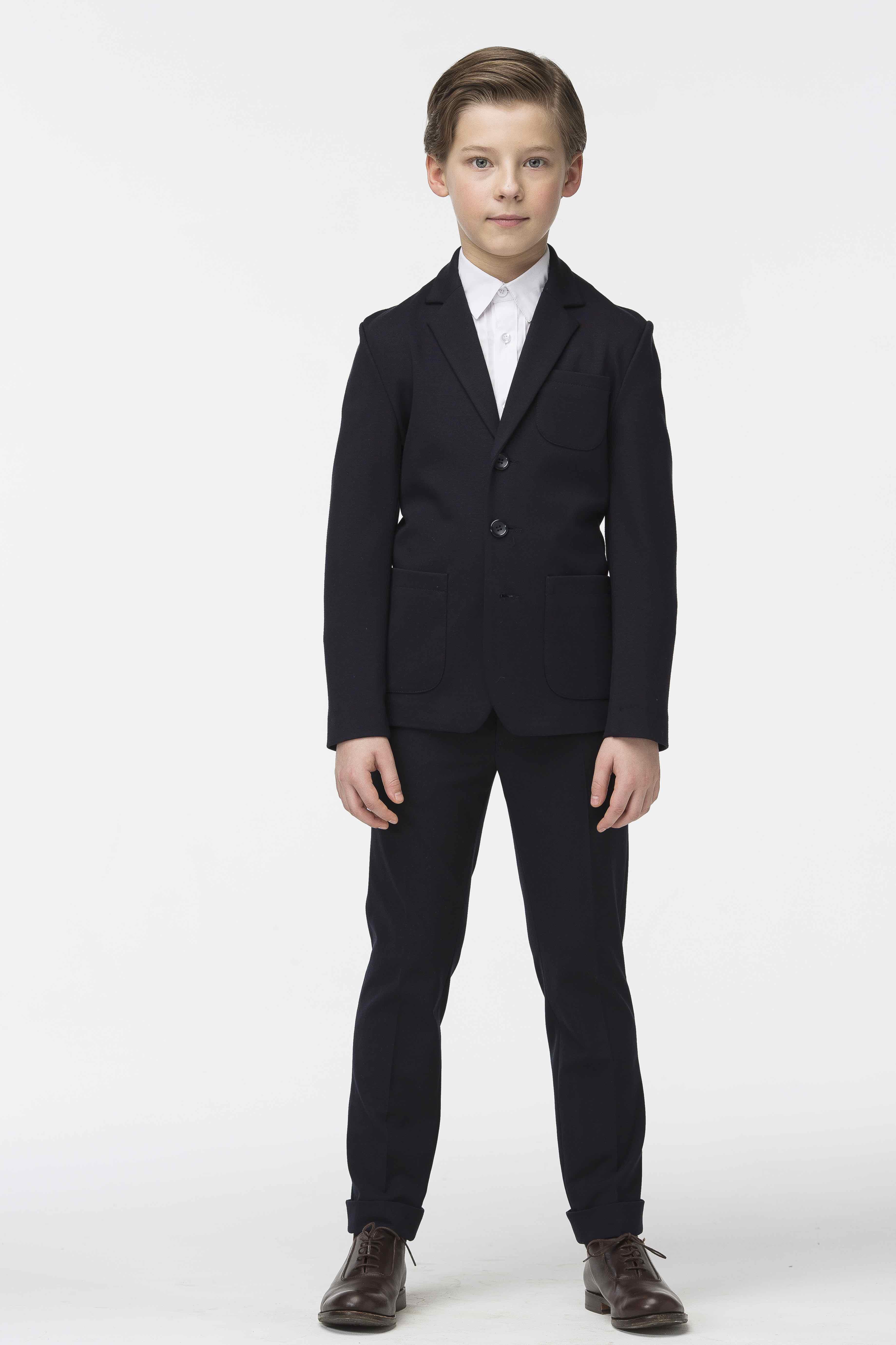 Пиджак для мальчиков SMENA цв.синий 19272 р.146/72
