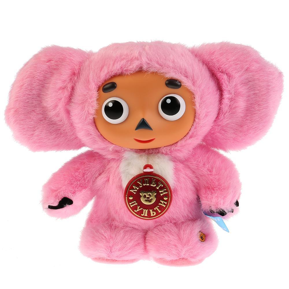 Купить Мягкая игрушка Мульти-Пульти Чебурашка с розовым мехом,