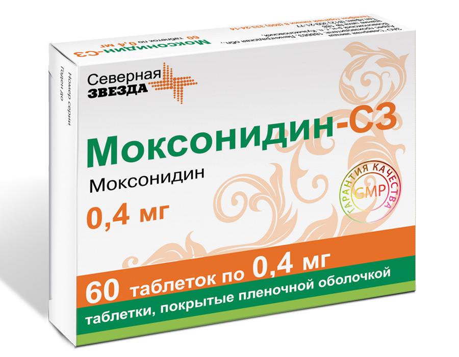 Купить Моксонидин таблетки, покрытые пленочной оболочкой 400 мкг 60 шт., Озон ООО
