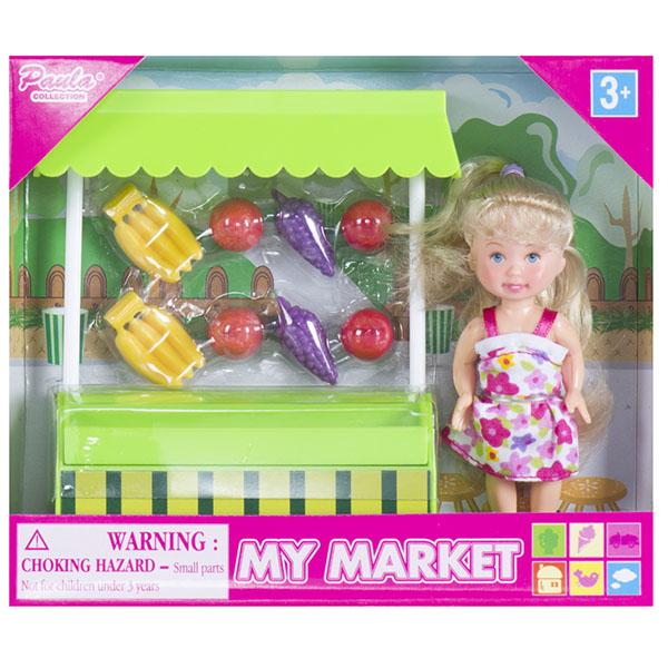 Игровой набор Paula На рынке Ларек с фруктами