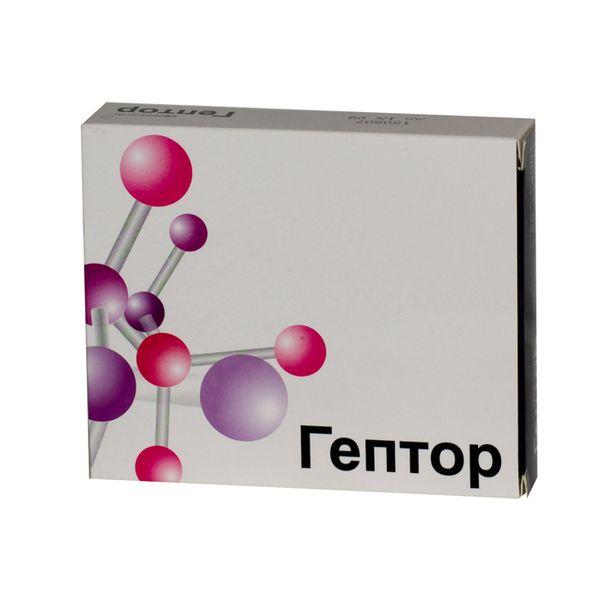 Гептор таблетки, покрытые оболочкой раствор./кишечн. 400 мг №40