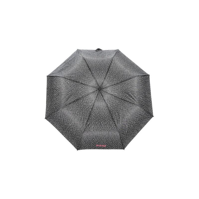 Зонт складной женский автоматический Isotoner 09419-0864 черный/белый