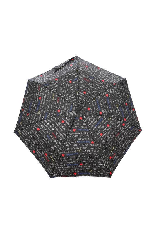 Зонт складной женский автоматический Isotoner 09397-7714 черный/серый